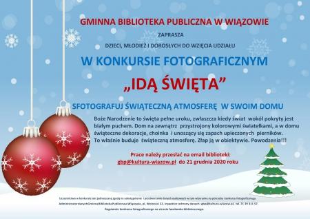 Konkurs Fotograficzny - Gminna Biblioteka Publiczna w Wiązowie